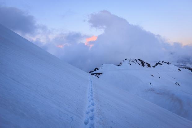 Paso con cierta pendiente bajo el Cerro de los Machos (Ruta río Seco #6)