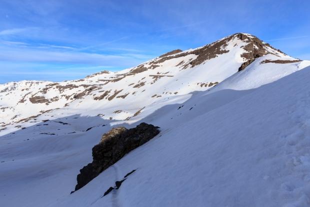 Paso bajo el Cerro de los Machos visto desde la puerta de los raspones (Ruta río Seco #23)