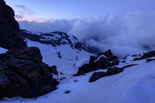 Vista de Veta Grande desde el Collado del Lobo (Río Seco #11, privamera 2014)