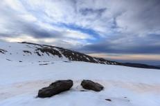 Loma Pelada y su puntal al amanecer, Sierra Nevada (Río seco #13, privamera 2014)