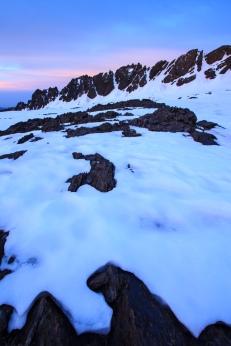 Raspones de Río Seco al amanecer, Sierra Nevada (Río seco #4, privamera 2014)