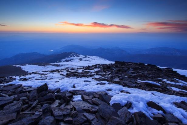 Atardecer desde el Cerro del Caballo #1, Sierra Nevada, primavera 2014