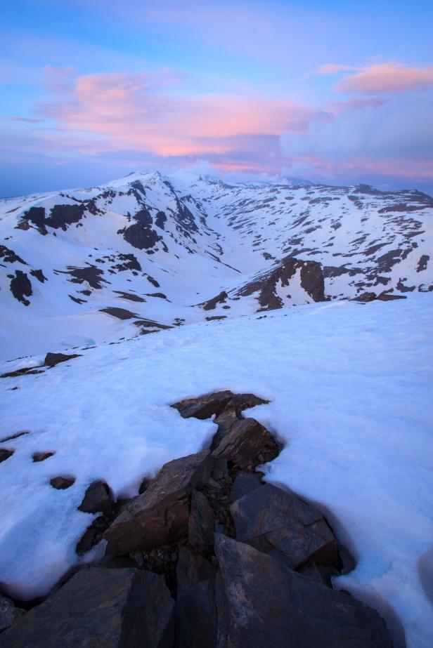 Atardecer desde el Cerro del Caballo #2, Sierra Nevada, primavera 2014
