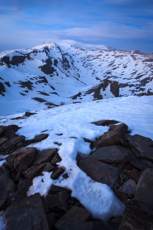 Atardecer desde el Cerro del Caballo #3, Sierra Nevada, primavera 2014