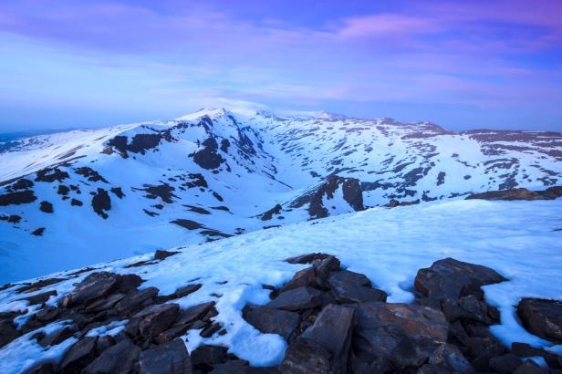 Atardecer desde el Cerro del Caballo #4, Sierra Nevada, primavera 2014