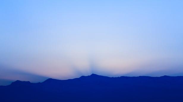 Rayos crepusculares en Sierra Nevada #1