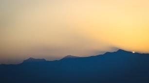 Rayos crepusculares en Sierra Nevada #2