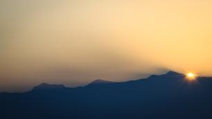 Rayos crepusculares en Sierra Nevada #3
