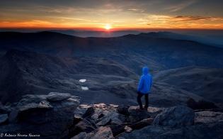 Amanecer de verano desde la cima de la Alcazaba, Sierra Nevada
