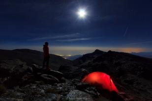 Noche de verano en el valle del río Lanjarón. Sierra Nevada, 2017
